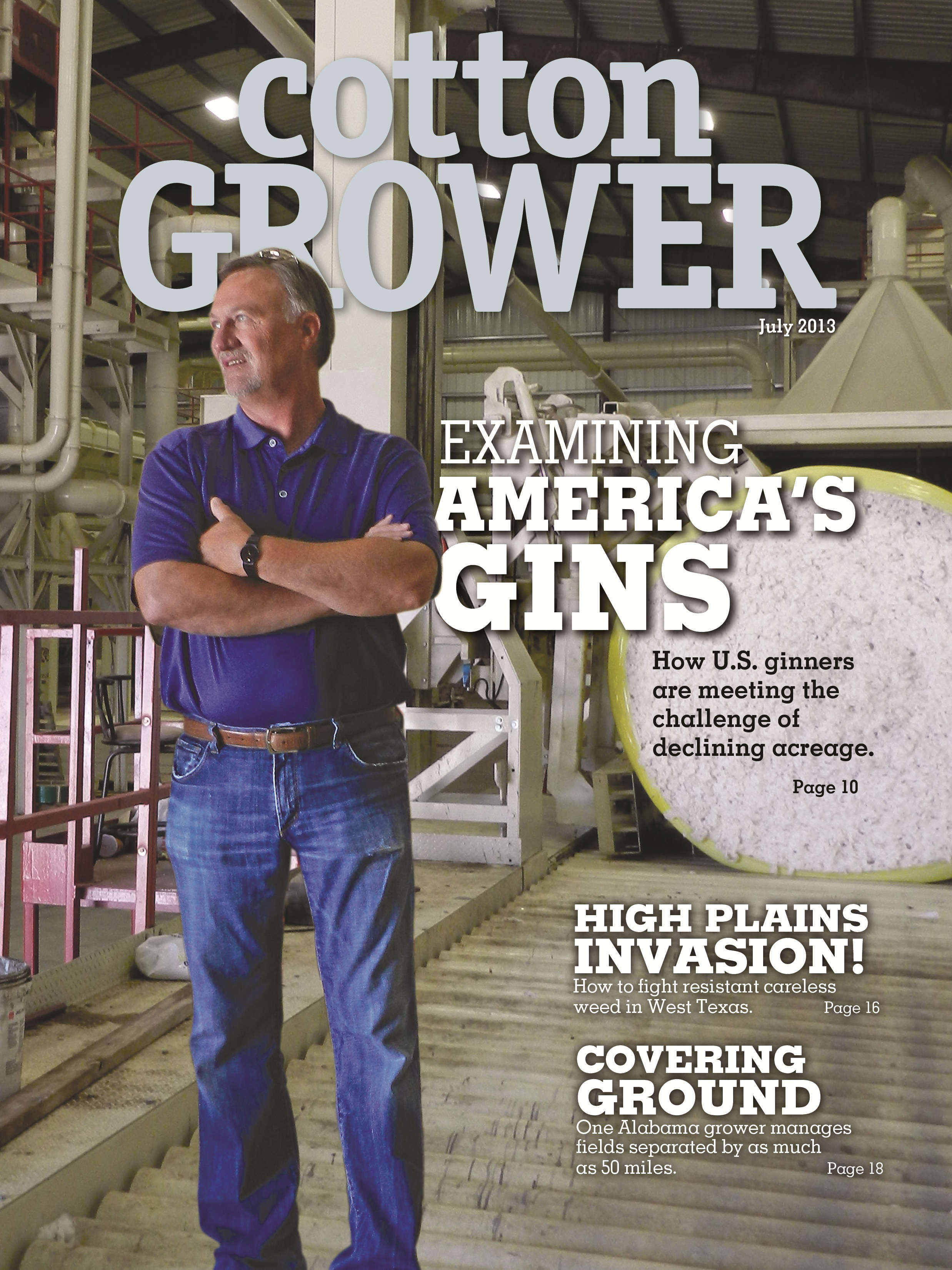 Cotton Grower Magazine July 2013 Cover